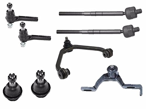 PartsW 8 Pcs Suspension & Steering Kit Front Upper Control Arm and Ball Joint Inner Outer Tie Rod End (Lower Kit Ford Ranger compare prices)
