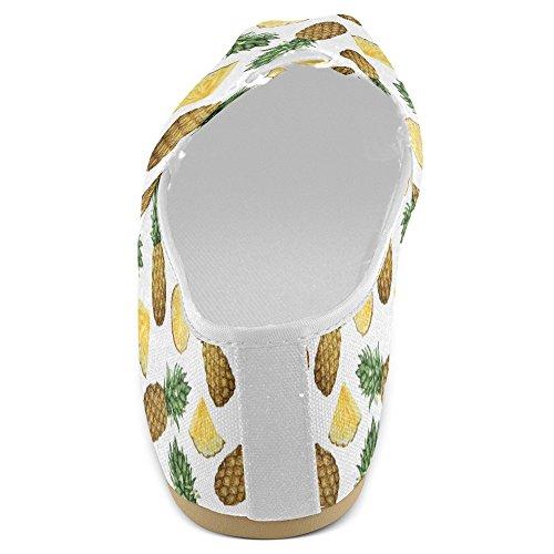 Interestprint Kvinners Loafers Klassisk Uformell Lerret Slip På Mote Sko Joggesko Flats Ananas Frukt Multi 29