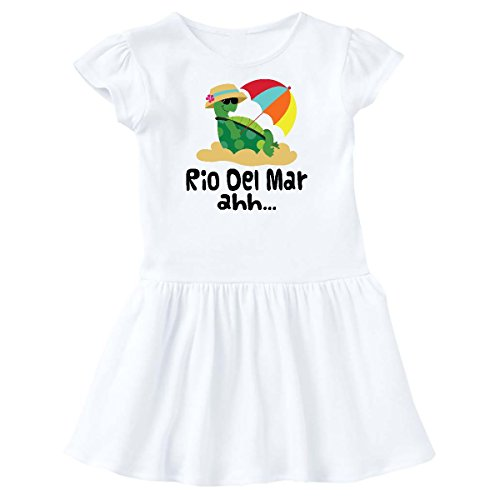 inktastic Rio Del Mar California Toddler Dress 3T White - Mar California
