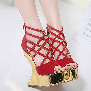 Rouge Noir A Bride Chaussures Arrière 7 5 Printemps cm Femme à Bride 9 Arrière 5 Talons LvYuan ggx Polyuréthane black Décontracté A à PC6Zqnfnwx