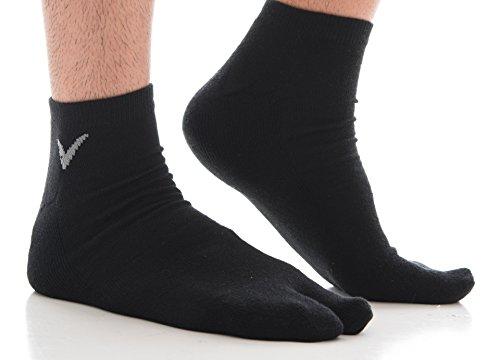 2c69016e1 Athletic Tabi Flip Flop Socks V-Toe Black Solid Ankle Cotton Blend Japanese  Asian Tabi