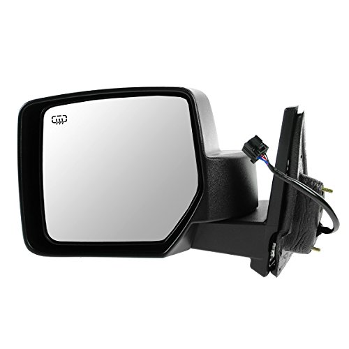 Mirror Power Heated Black Textured Driver Side Left LH for 07-15 Jeep Patriot ()