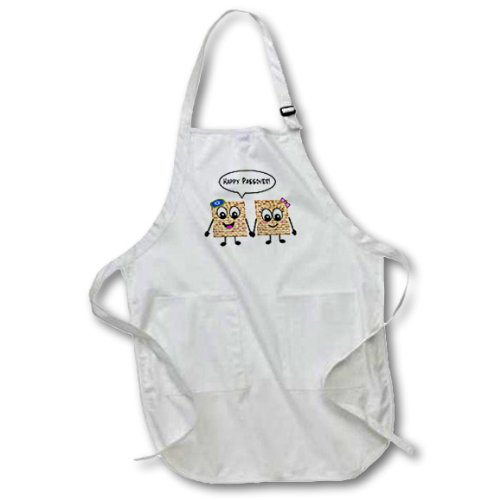 Happy Passover Cute Smiley Matzah cartoon Jewish Full Length Apron with Pockets 22w x 30l 3dRose InspirationzStore Judaica apr/_76636/_1 Happy Smiling Matzot for Pesach