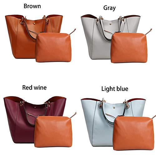 Handbags Cross Tote Bag Tote Bags Leather Large for Body Ladies Capacity Soft Leather Classic Shoulder Bags Ladies Handbags Grey Women PU Retro UCwn7rUPq