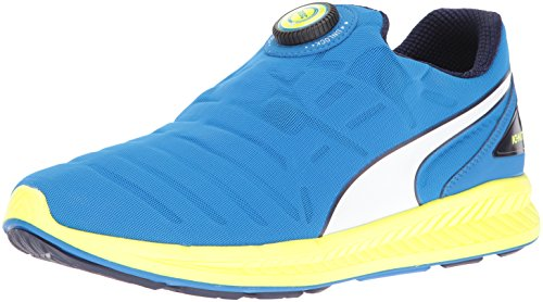 Mens Puma Mens Ignite Disc Running Shoe Blu Elettrico Limonata