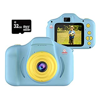 EMAAS Kids Camera Children - Digital Camera for Kids - Selfie Camera for Girls and Boys - Age 3 4 5 6 7 8 9 10 with 32GB SD Card Pink - Toddler Video Recorder and Photography– Includes 32GB SD Card