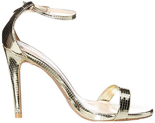 Qupid Women's Grammy-01 Heeled Sandal Champagne Texture Gd9L47P