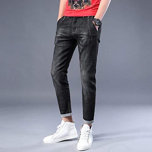 Uomo Slim Ragazzi Casual Nero Pantaloni Stretch Jeans Fit Da Skinny Strappati Denim Classiche cSUWU4nP