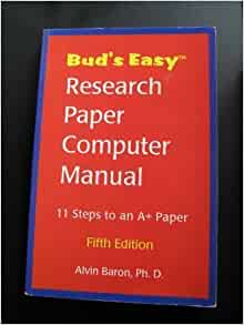 Bud easy research paper computer manual
