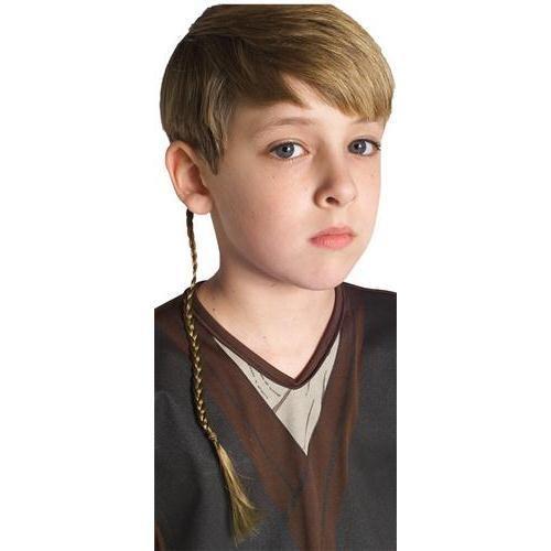 Rubies Costume Co Anakin Skywalker Jedi Apprentice Braid Costume Accessory,Brown,One Size]()