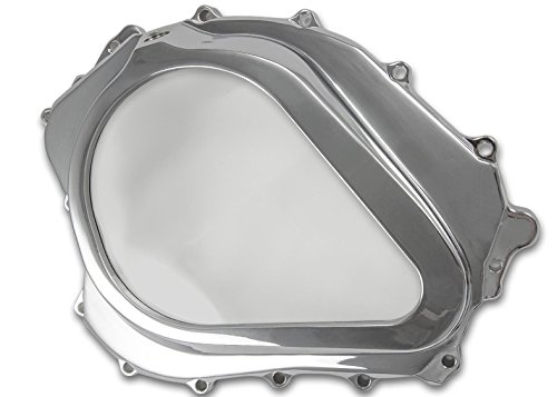 Yana Shiki USA CA4357 Triple Chrome Clutch Cover with Window Chrome Billet Clutch Cover