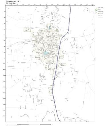 Opelousas Louisiana Map.Amazon Com Zip Code Wall Map Of Opelousas La Zip Code Map Not