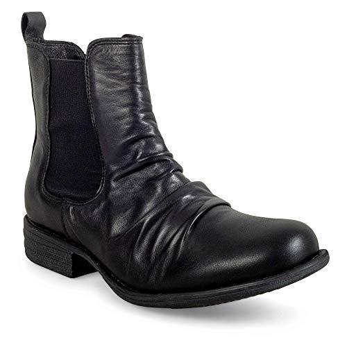 Miz Mooz Women's Lissie Rubber Ankle Boot, Black, 8 M US