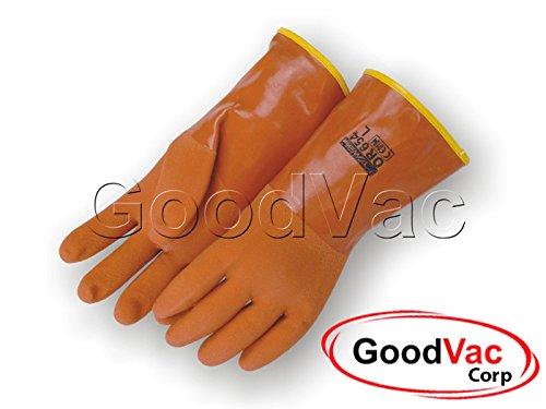 (Majestic 3703 Acid/Base Bio Hazard Resistant PVC Protective Gloves with Removable Liner - Large)