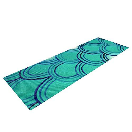 kess inhouse Theresa Giolzetti 'cola de sirena' esterilla de yoga mat, verde/azul, 72x 24-Inch