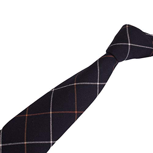 ZhujiaN Arrow Type Casual Cotton Print Tie Custom Men Gentleman Retro White Brown Stripes Tie