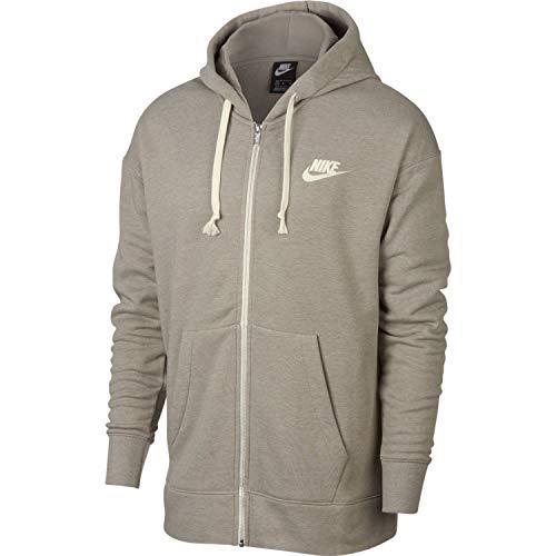 - Nike Mens Heritage Full Zip Hoodie Light Taupe/Sail 928431-285 Size Medium