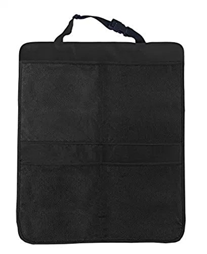 ''Kick Mat Car Seat Back Organizer With On Smell,Extra Large Size For Maximum Coverage,Reinforced Corners To Prevent Sag And 4 Large Storage Organizer Pockets '' (Black) by MINSINHO (Image #4)