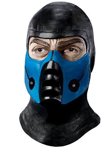 Mortal Kombat Deluxe Overhead Subzero Mask, Black, One Size (Coolest Cartoon Characters)