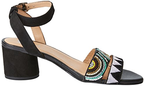 Abierta Mujer Tacón 45276 Con Negro black Para Gioseppo Zapatos Punta De YTqaqg