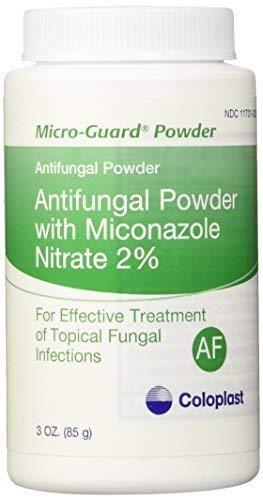 (MICRO-GUARD POWDER ANTIFUNGAL. CONTAINS 2% MICONAZOLE NITRATE. WORKS WELL UNDER SKIN FOLDS. TREATS - 3 oz(85g) by Coloplast)