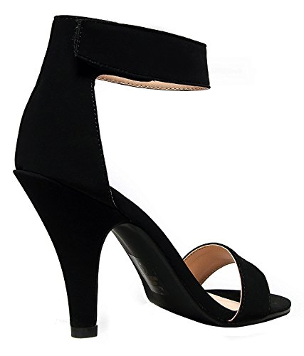 Black nubuck Women's Soda Delicious Dress Rosela Sandal Formal OYgwqT