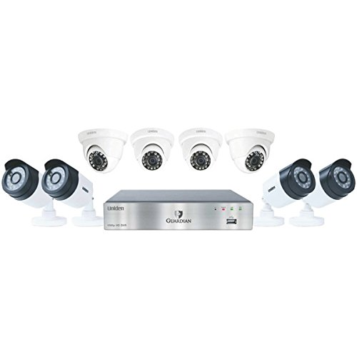 Uniden Guardian G7844D2 2TB DVR (4 Bullet & 4 Dome Cameras) Wired Video Surveillance System