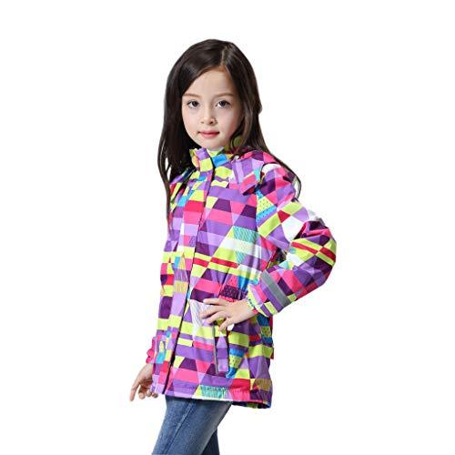 Girl Fleece Lined Windbreaker Jacket Waterproof Warm Columbia Coat with Hood