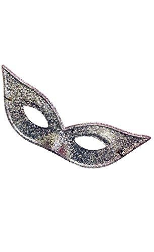 Harlequin Mask Lame Silver - Lame Harlequin Mask