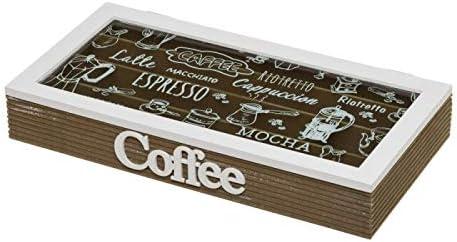 D,casa - Caja de cápsulas de café de Madera Blanca Vintage para salón Factory: Amazon.es: Hogar