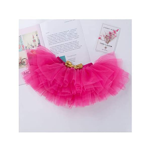 Gagacity Abiti Vestito Bambina 3 Pezzi Neonata Primo/Secondo Compleanno Abbigliamento Pagliaccetto+Gonna+Fascia 4