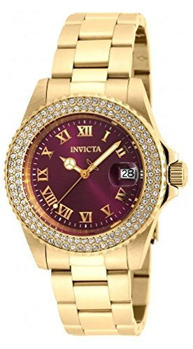 New Womens   Angel Crystal Accented Purple Dial Bracelet Watch - Invicta 19876