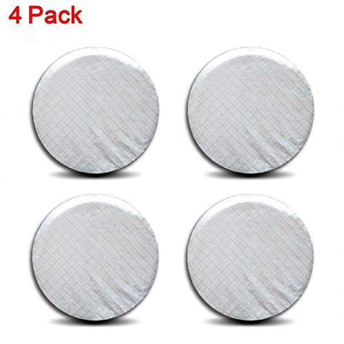 spareflying Set of 4 Tire Covers, Waterproof Aluminum Film Tire Sun Protectors,for 27 - 29 RV Auto Truck Camper Trailer Motorhome Tire Wheel Cover Diameter,Silver,Weatherproof Tire Protectors