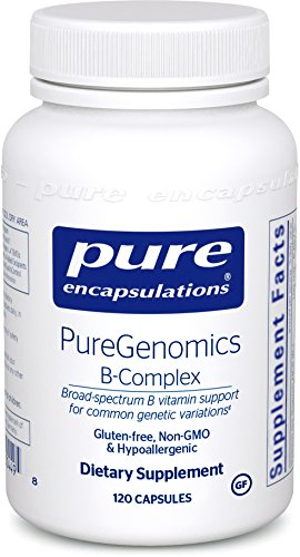 Pure Encapsulations – PureGenomics B-Complex – Broad Spectrum B Vitamin Support for Common Genetic Variations – 120 Capsules