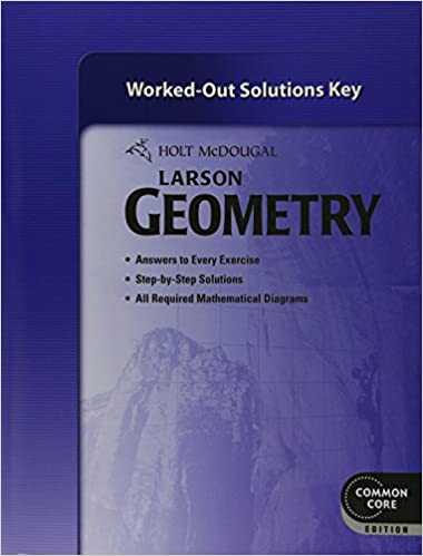 Amazon holt mcdougal larson geometry common core worked out holt mcdougal larson geometry common core worked out solutions key 1st edition fandeluxe Choice Image