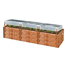 Exaco Trading Company Triple Box 20374 Raised Bed with Cold-Frame