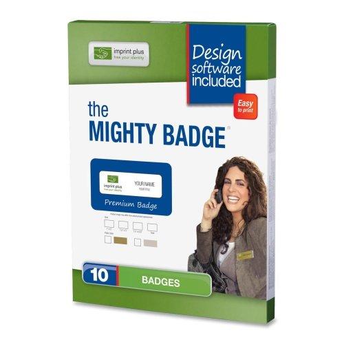 UPC 870960002891, Imprint Plus Mighty Badge Gold Inkjet Name Badges (IPP2891)