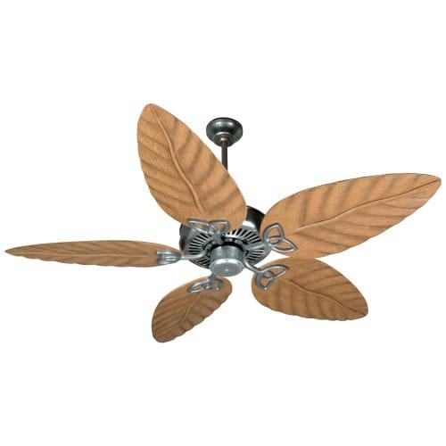 Craftmade Patio 52 Ceiling Fan (Craftmade OPXL52GV 52-Inch Outdoor Patio Ceiling Fan with B552S-OLOK Outdoor Light Oak Blade Set, Galvanized)