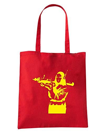 Borsa Shirt FUN0696 Rossa Shopper LISA Speed MONA BANKSY 85W6qc11R