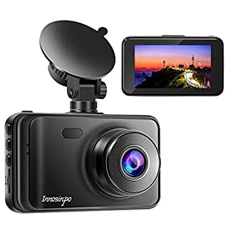 """Dash Cam【2020 New Version】 1080P FHD DVR Car Dashboard Camera Recorder 3"""" LCD Screen 170° Wide Angle, Super Night Vision, G-Sensor, WDR, Parking Monitor, Loop Recording, Motion Detection"""