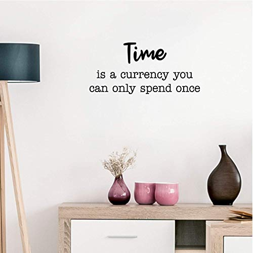 Vinyl Wall Art Decal - Time is A Currency You Can Only Spend Once - 14