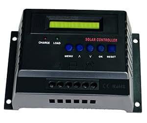 60 amp 12 24 volt digital solar power charge controller car electronics. Black Bedroom Furniture Sets. Home Design Ideas