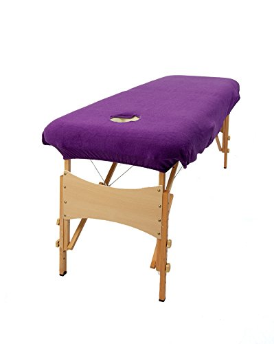 TowelsRus Aztex Classic Value Massage Couch Cover With Face Hole Purple,...