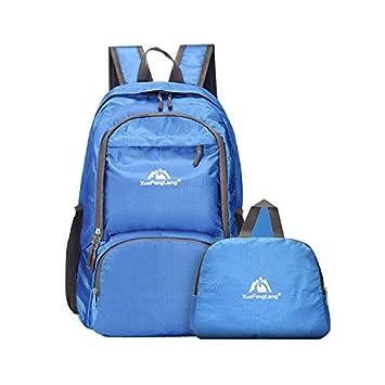 Mochila Plegable Impermeable Viaje Senderismo Mochila Ligera Mujer Casual Hombres 30 l (Azul): Amazon.es: Deportes y aire libre