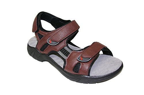 Walking Fisherman Sandals Bull Happy Brown Comfort for sz Men Aruba 6 5 Casual Footbed 13 Sandals wH8x5qdx