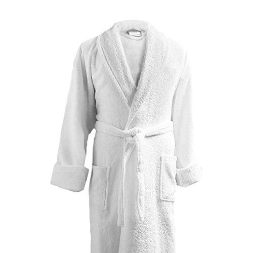 Luxor Linens Couple's Terry Cloth Bathrobe Egyptian Cotton Unisex/One Size Luxurious Soft Plush Elegant San Marco (Single Robe, No Monogram) (Monogram Bathrobes)