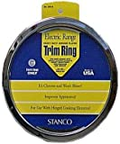 Stanco Range Trim Ring Fits Most Electric Ranges Chrome Plated Steel 6 In.