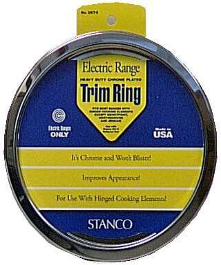 (Stanco Range Trim Ring Fits Most Electric Ranges Chrome Plated Steel 6 In.)