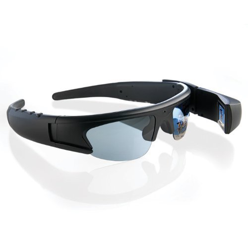Brookstone Active i Video Recording Sunglasses with 1.5-I...