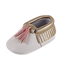 Zhengpin Baby Soft Sole PU Leather Shoes Infant Boy Girl Toddler Moccasin 0-18 Months